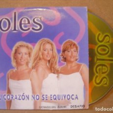 CDs de Música: SOLES - EL CORAZON NO SE EQUIVOCA - CD SINGLE PROMOCIONAL - 2001 VM. Lote 114915439
