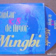 CDs de Música: MINGHI - CANTAR ES DE AMOR - CD SINGLE PROMOCIONAL - 1997 EMI. Lote 114918179