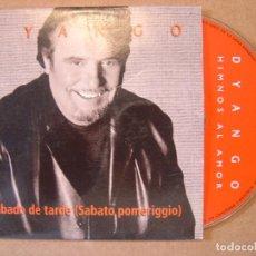 CDs de Música: DYANGO - SABADO DE TARDE - CD SINGLE PROMOCIONAL - 2001 HORUS. Lote 114920203
