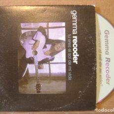 CDs de Música: GEMMA RECODER - TU ERES EL SOL DE MI VIDA - CD SINGLE PROMOCIONAL - TEMPO. Lote 114921455