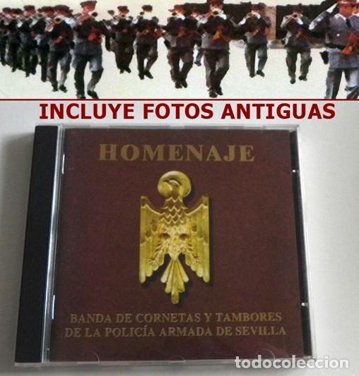HOMENAJE CD BANDA CORNETAS Y TAMBORES DE LA POLICÍA ARMADA SEVILLA MARCHAS SEMANA SANTA MÚSICA FOTOS (Música - CD's Clásica, Ópera, Zarzuela y Marchas)