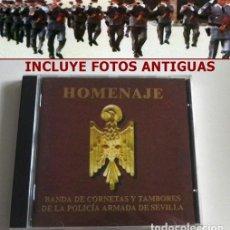 CDs de Música: HOMENAJE CD BANDA CORNETAS Y TAMBORES DE LA POLICÍA ARMADA SEVILLA MARCHAS SEMANA SANTA MÚSICA FOTOS. Lote 114957827