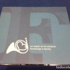 CDs de Música: CD ( UN SOPLO EN EL CORAZON ) HOMENAJE A FAMILY 2003 ROCKDELUX : LOS PLANETAS, FANGORIA, LA BUENA VI. Lote 115090863