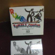 CDs de Música: RUMBA UNDER A HABANA MOON. RUMBAS & CONGAS. 40 HOT LATIN DANCES. 2 CD'S.. Lote 115220043