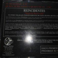 CDs de Música: REINCIDENTES / CD SINGLE PROMOCIONAL / RARÍSIMO / MATERIA RESERVADA / 2 TEMAS. Lote 115251515