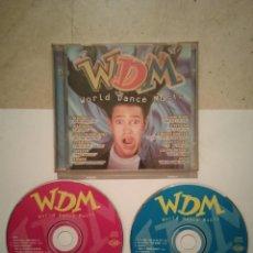 CDs de Música: CD DOBLE ORIGINAL - WDM WORLD DANCE MUSIC - DANCE - DJ'S - HOUSE - ELECTRONICA. Lote 115261231