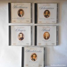 CDs de Música: GRANDES OBRAS PARA PIANO SCHUMANN - BACH - CHOPIN - MENDELSON - BEETHOVEN. Lote 115275887