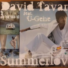 CDs de Música: DAVID TAVARÉ CD MAXI SUMMERLOVE. Lote 115306131