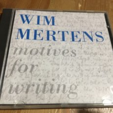 CDs de Música: WIM MERTENS - MOTIVES FOR WRITING - CD. Lote 115306995
