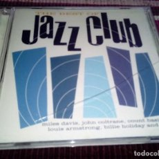 CDs de Música: THE BEST OF JAZZ CLUB BILLIE HOLIDAY MILES DAVIS LOUIS ARMSTRONG,... 18 SONGS CD ORIGINAL. Lote 115320047