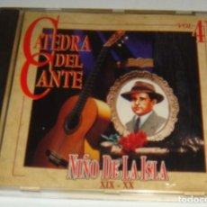 CDs de Música: CD - NIÑO DE LA ISLA - CATEDRA DEL CANTE VOL. 41 - NIÑO DE LA ISLA. Lote 115501351