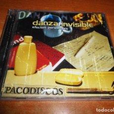 CDs de Música: DANZA INVISIBLE EFECTOS PERSONALES CD ALBUM DEL AÑO 2001 JAVIER OJEDA 12 TEMAS. Lote 115598447