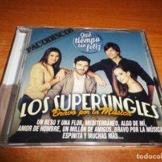 CDs de Música: LOS SUPERSINGLES BRAVO POR LA MUSICA CD ALBUM 2014 LAS CANCIONES DE QUE TIEMPO TAN FELIZ 12 TEMAS. Lote 194650040