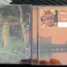 CDs de Música: LOTE 2 CD MÚSICA ASIA Y RELAJACIÓN HEART OF THE RAINFOREST. SIN USO. MUY BUEN ESTADO. Lote 115697915