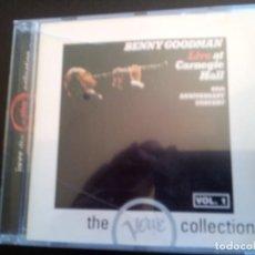 CDs de Música: BENNY GOODMAN LIVE AT CARNEGIE HALL VOL.1 ( THE VERVE COLLECTION). Lote 115802803