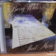 CDs de Música: BARRY WHITE SHEET MUSIC CD PDELUXE. Lote 115918071