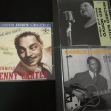 CDs de Música: LOTE 3 CDS CHARLIE CHRISTIAN (1939,40,41)+ MILDRED BAILEY & RED NORVO(1944) + BENNY CARTER(1946)JAZZ. Lote 115918135