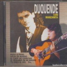 CDs de Música: DUQUENDE CON MANZANITA CD 1997 DIVUCSA. Lote 115945035