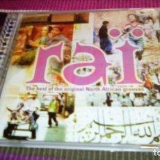 CDs de Música: RAÏ THE BEST OF THE ORIGINAL NORTH AFRICAN GROOVES ORIGINAL CD CHEB KHALED, MALIK, HAÏM, YOUCEF.. Lote 116058843