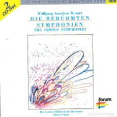 CDs de Música: DOBLE CD ÁLBUM: WOLFGANG AMADEUS MOZART - THE FAMOUS SYMPHONIES - 15 TRACKS - FORUM - AÑO 2000. Lote 116078523