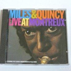 CDs de Música: MILES DAVIS & QUINCY JONES - LIVE AT MONTREUX CD. Lote 116100075