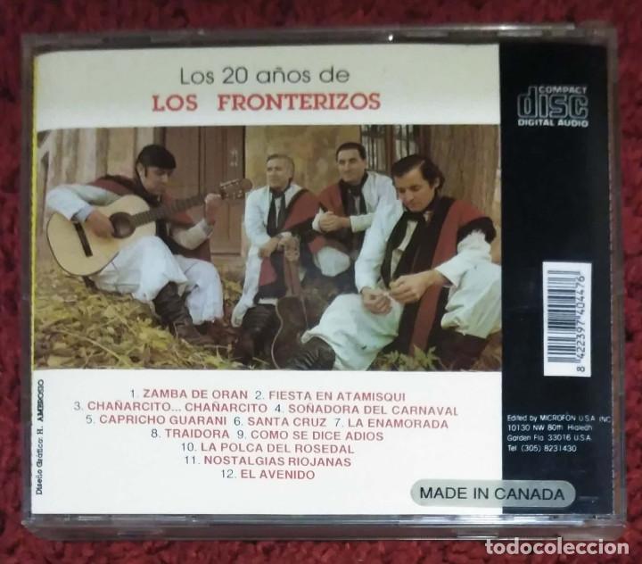 CDs de Música: LOS FRONTERIZOS (LOS 20 AÑOS DE LOS FRONTERIZOS) CD 1990 - Foto 2 - 116161363