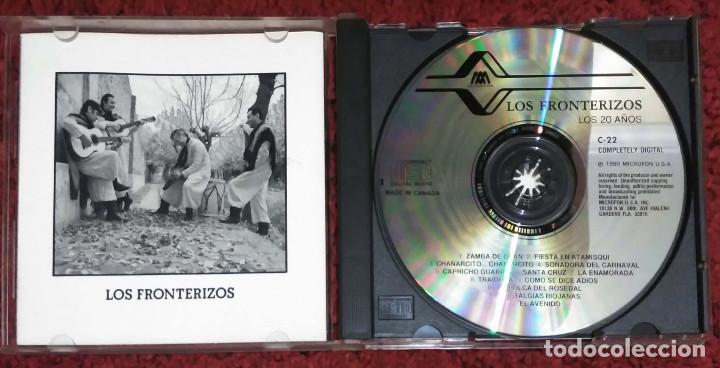 CDs de Música: LOS FRONTERIZOS (LOS 20 AÑOS DE LOS FRONTERIZOS) CD 1990 - Foto 3 - 116161363