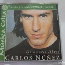 CDs de Música: CD CARLOS NUÑEZ OS AMORES LIBRES. Lote 116189283