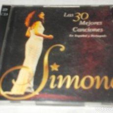 CDs de Música: SIMONE LAS 30 MEJORES CANCIONES EN ESPAÑOL Y PORTUGUÉS . Lote 116192075