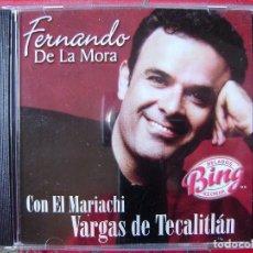 CDs de Música: FERNANDO DE LA MORA CON MARIACHI...MEXICO...PROMO...MUY RARO. Lote 116270591
