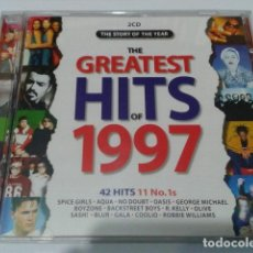 CDs de Música: CD DOBLE VARIOS ( THE GREATEST HITS OF 1997 ) SPICE GIRLS, AQUA, RADIOHEAD, OASIS, NO DOUBT. Lote 116281307