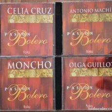 CDs de Música: LOTE 5 CDS COLECCION PASION BOLERO. CHAVELA VARGAS, CELIA CRUZ, ANTONIO MACHIN, OLGA GUILLOT, MONCHO. Lote 116295795
