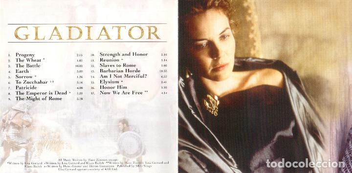 GLADIATOR  B S O  DEL FILM  HANS ZIMMER Y LISA GERRARD  Año 2001