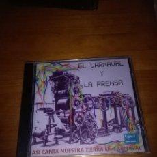 CDs de Música: ASÍ CANTA NUESTRA TIERRA EN CARNAVAL. EL CARNAVAL Y LA PRENSA NUEVO PRECINTADO. B9CD. Lote 116574335