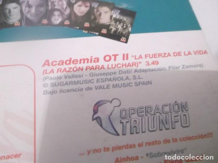 CDs de Música: CD 1 OPERACIÓN TRIUNFO II . LA FUERZA DE LA VIDA(LA RAZÓN PARA LUCHAR ) COCA COLA MCDONALDS - Foto 2 - 116687891