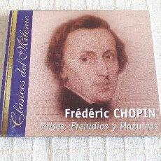 CDs de Música: CD - CLÁSICOS DEL MILENIO - FRÉDÉRIC CHOPIN - VALSES, PRELUDIOS Y MAZURCAS. Lote 116695179