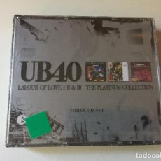 CDs de Música: UB40 LABOUR OF LOVE 1-2 Y 3,,THE PLATINUM COLLECTION,,NUEVO PRECINTADO,,. Lote 116708587