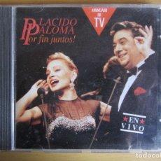 CDs de Música: POR FIN JUNTOS. ORIGINAL. 1991. PALOMA SAN BASILIO Y PLACIDO DOMINGO.. Lote 116743143