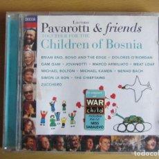 CDs de Música: PAVAROTTI & FRIENDS. CHILDREN OF BOSNIA. ORIGINAL. 1996.. Lote 116748419