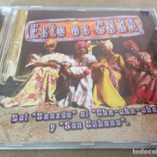 CDs de Música: ESTO ES CUBA. DEL DANZON AL CHA-CHA-CHA Y SON CUBANO.. Lote 116823343