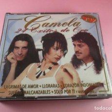CDs de Música: CD DOBLE-CAMELA-24 ÉXITOS DE ORO-2000-PRODUCCIONES AR-PERFECTO ESTADO-VER FOTOS. Lote 116837275