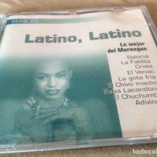 CDs de Música: LATINO, LATINO. LO MEJOR DEL MERENGUE. 1999.. Lote 116837619