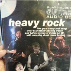 CDs de Música: AUDIO CD PARA GUITARRA LECCIONES HEAVY ROCK.NUEVO. . Lote 117030283