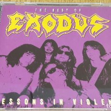 CDs de Música: THE BEST OF EXODUS / LESSONS IN VIOLENCE / CD / MUSIC FOR NATIONS / TRASH METAL / LUJO.. Lote 117127531