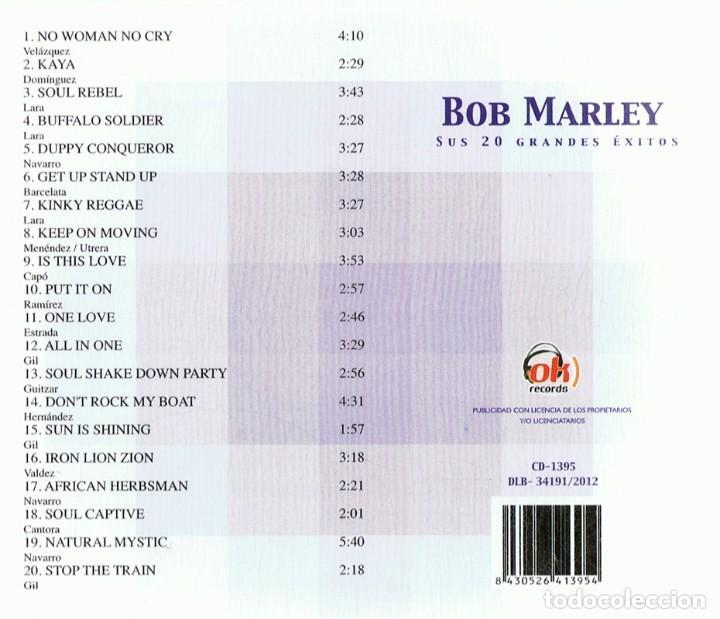 CDs de Música: BOB MARLEY SUS 20 GRANDES ÉXITOS (CD) - Foto 2 - 117288275