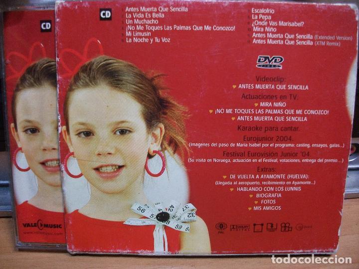 CDs de Música: MARÍA ISABEL - ¡NO ME TOQUES LAS PALMAS QUE ME CONOZCO! CD ALBUM + DVD EDICION ESPECIAL PEPETO - Foto 3 - 142929138