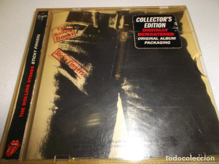 THE ROLLING STONES STICKY FINGERS COLLECTOR,S EDITION DIGITALLY REMASTERED  CD CON CREMALLERA