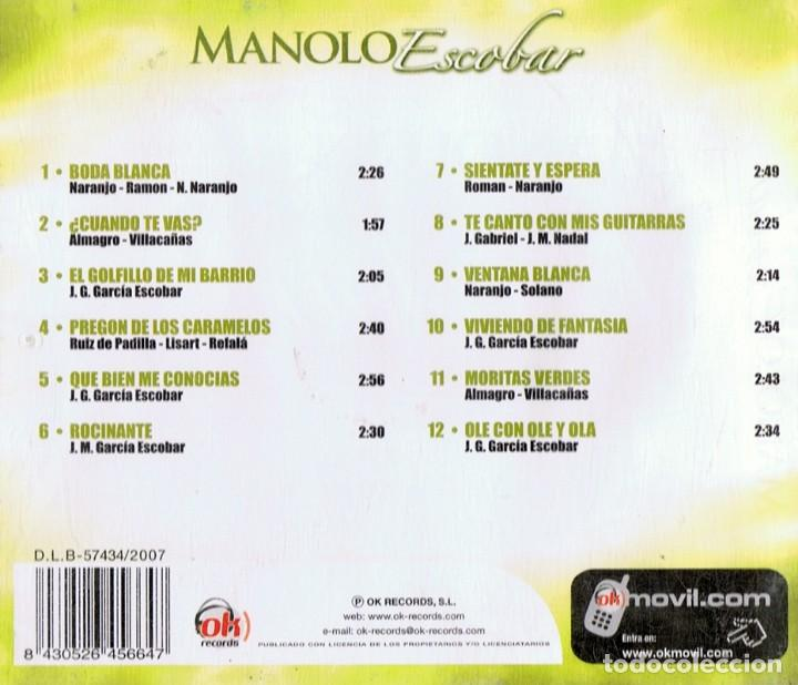 CDs de Música: MANOLO ESCOBAR (CD) - Foto 2 - 117752463