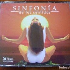 CDs de Música: SINFONÍA DE LOS SENTIDOS TRIPLE CD AGUA Y TIERRA SINFONÍA SENSUALIDAD Y EL UNIVERSO MÚSICA RELAJANTE. Lote 118021071