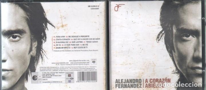 ALEJANDRO FERNANDEZ. A CORAZON ABIERTO. ALEJANDRO FERNANDEZ. CD-SOLEXT-867 (Música - CD's Latina)